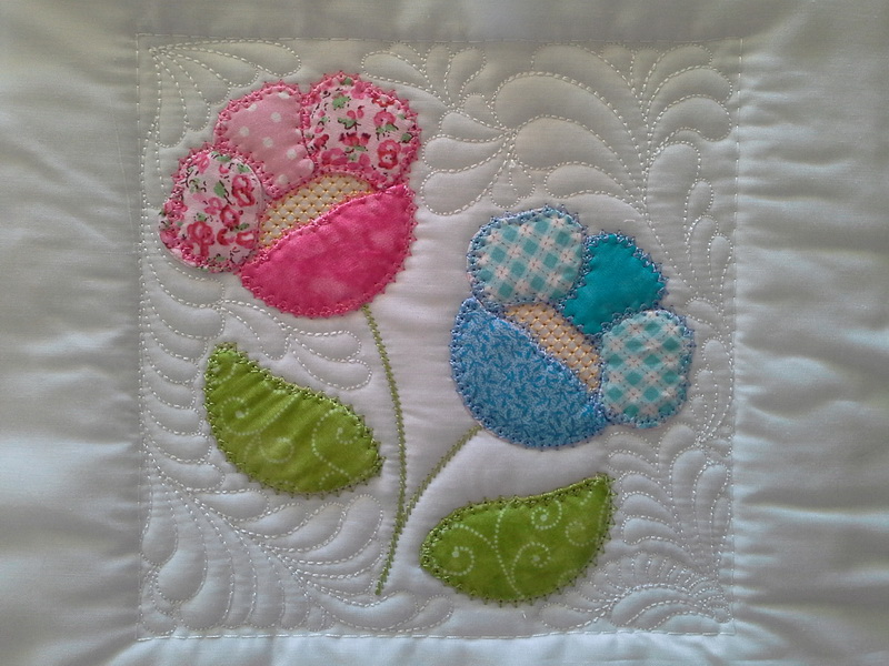 Sew and Turn Applique QAYG Block 1