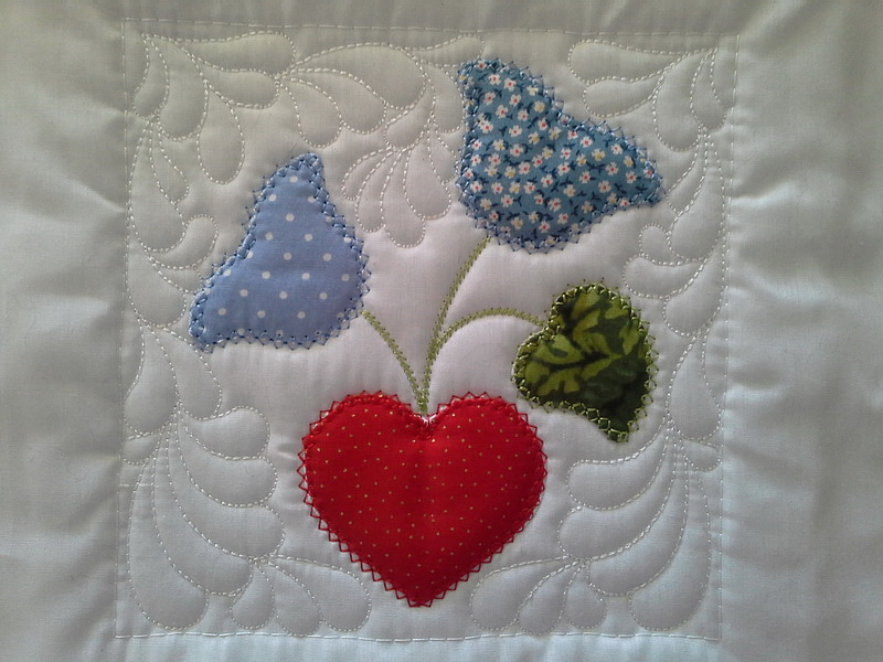 Sew and Turn Applique QAYG Block 3