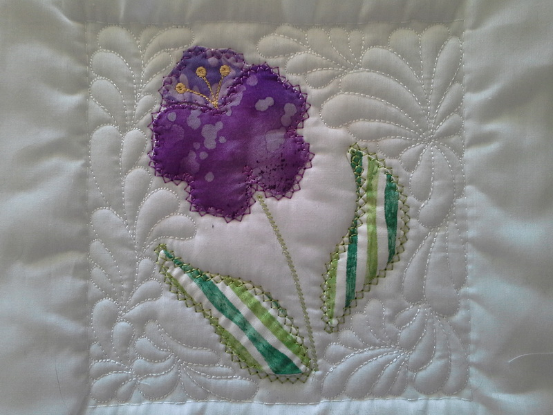 Sew and Turn Applique QAYG Block 4